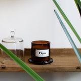 fig scented candle cloche detail