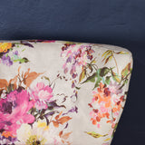 cocktail chair floral print close up