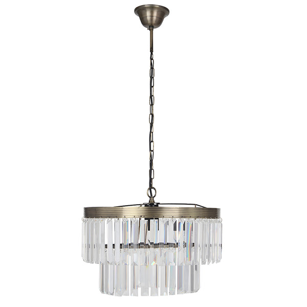 2 Tier Glass Pendant - Electrified