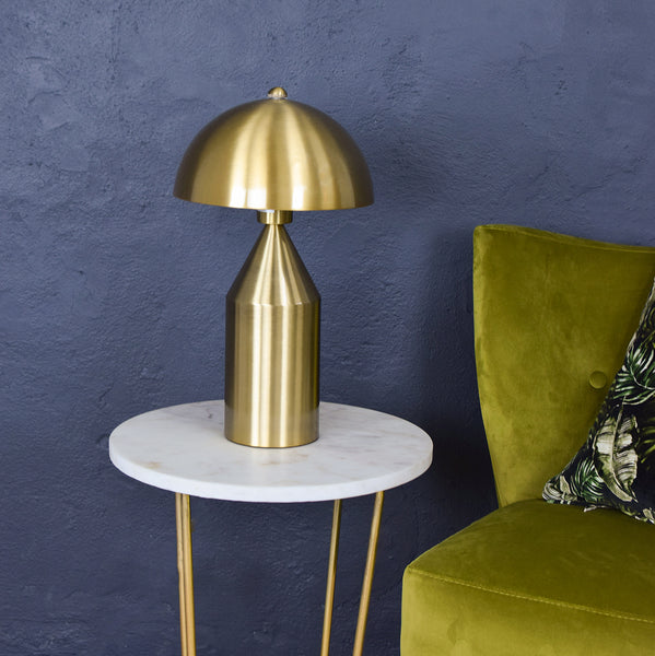brass domed table lamp