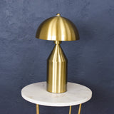 brass table lamp close up