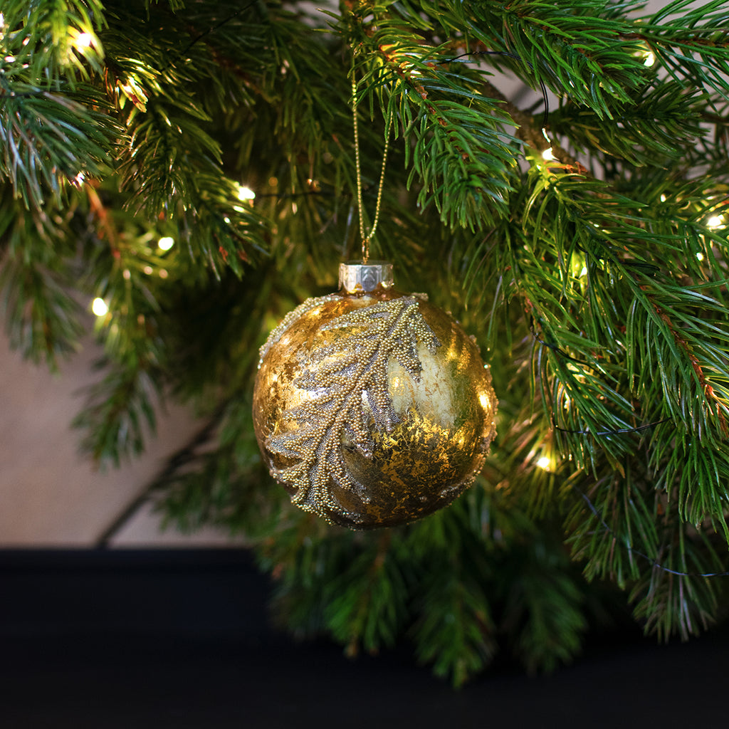gold glass bauble
