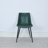 leather dining chair front
