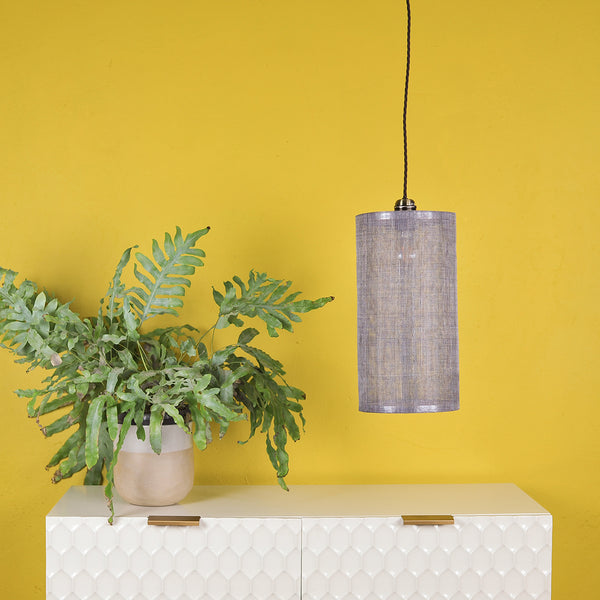 grey abaca lampshade