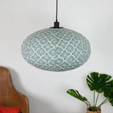 grey lotus cotton oval pendant shade