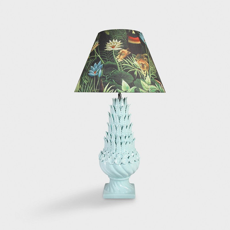 Henri table lamp light blue