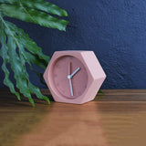small hexagon alarm clock