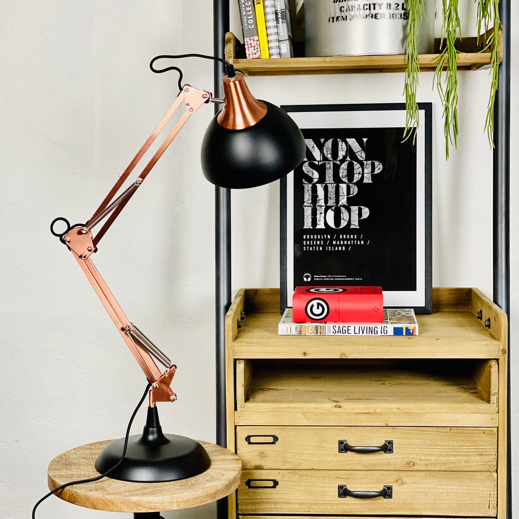 Black Copper Anglepoise Desk  Lamp
