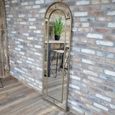 Tall Arch Mirror Gold 6443