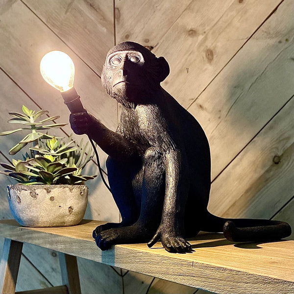 Sitting Outdoor Monkey Lamp Seletti
