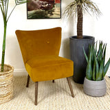 Saffron Velvet Chair