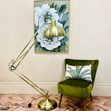 Gold Floor Anglepoise Lamp