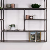 industrial metal wall unit close up