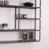 industrial metal wall unit - grey