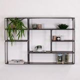 industrial metal wall unit - 8 shelves
