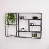 industrial metal wall unit side view