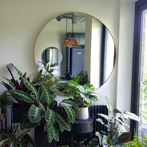 extra large round wall mirror