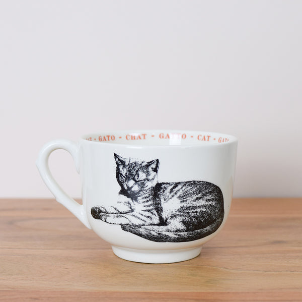oversized cat coffee cup