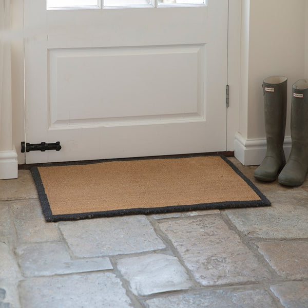 doormat with grey border