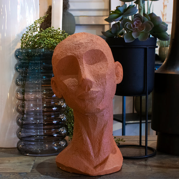 terracotta head statue - large