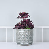 grey daisy planter detail