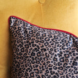 leopard cushion trim