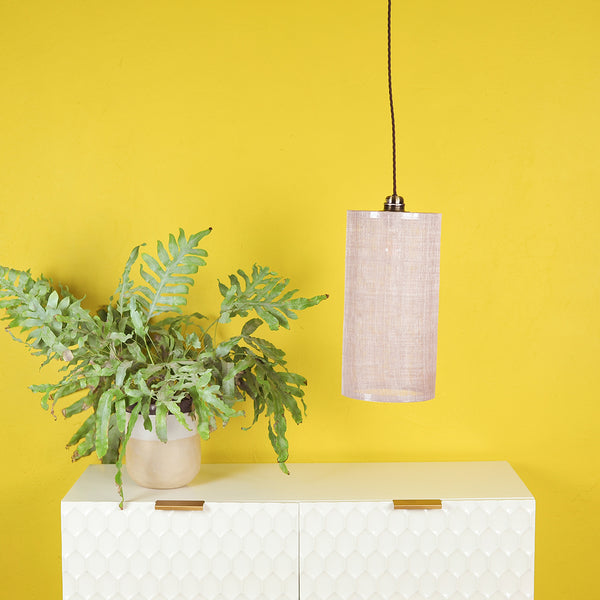 light pink lampshade