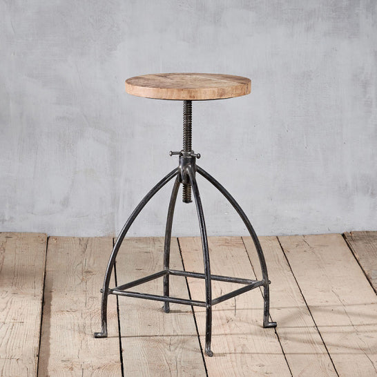 mango wood and iron stool