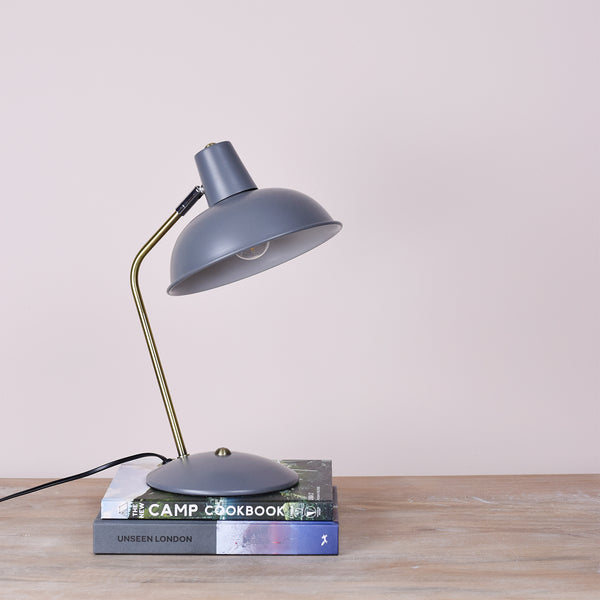 matte grey table lamp