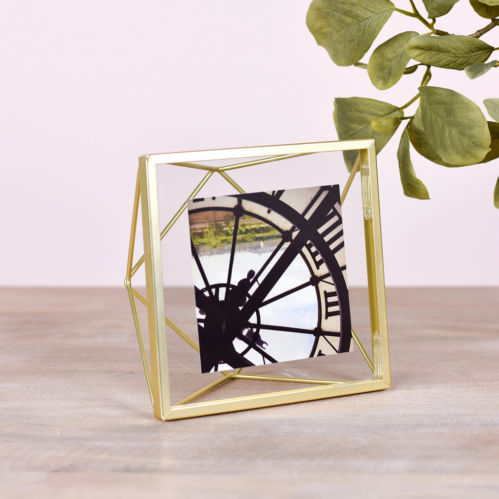 Metal Picture Frame 4x4 Brass