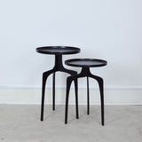 black metal side tables
