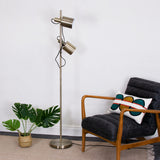 metal task floor lamp with two heads