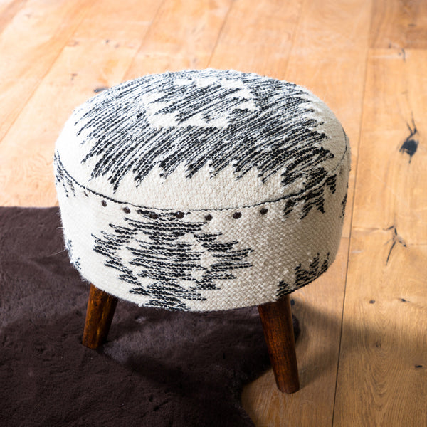 monochrome foot stool