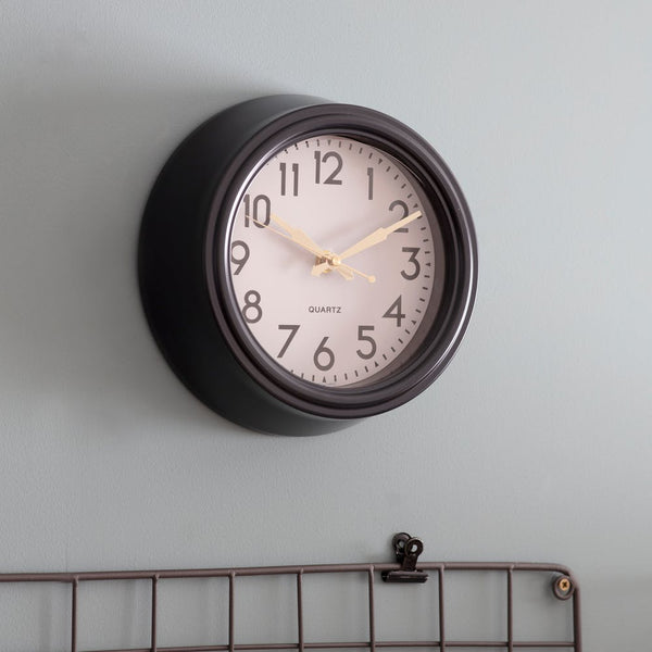 small monochrome wall clock