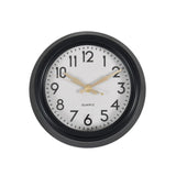 small monochrome wall clock detail