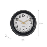 monochrome wall clock dimensions