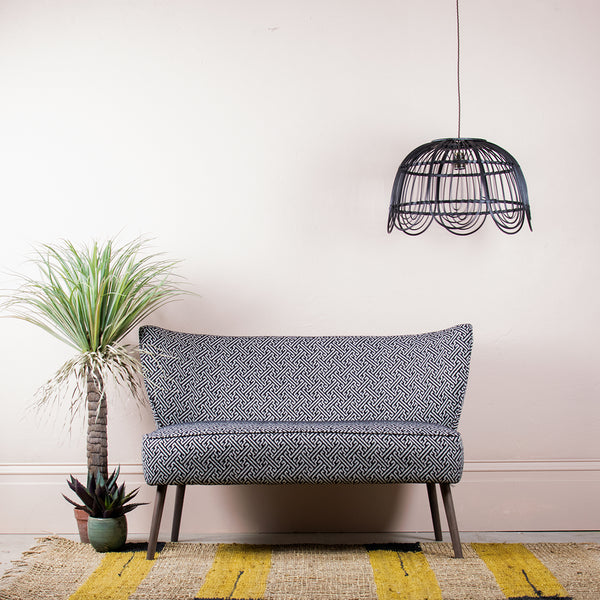 monochrome two seater sofa