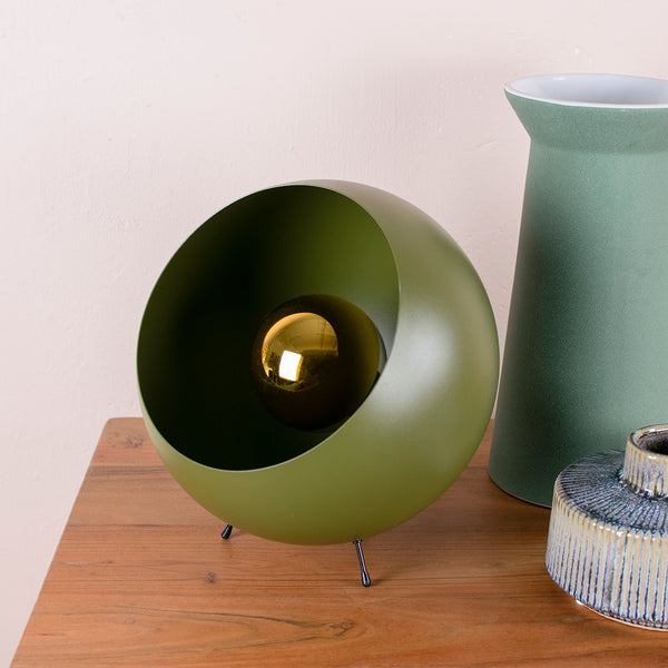 moss green ball table lamp