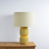 mustard table lamp details
