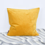 curry velvet cushion
