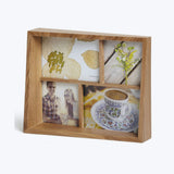 wood multi photo frame display