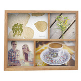 natural wood multi photo frame