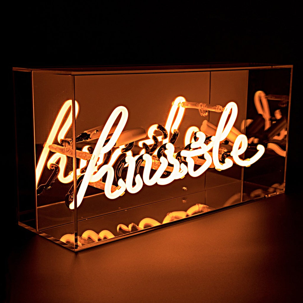 neon box light - hustle