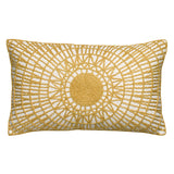 noah embroidered cushion - yellow