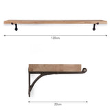 oak bracket shelf dimensions
