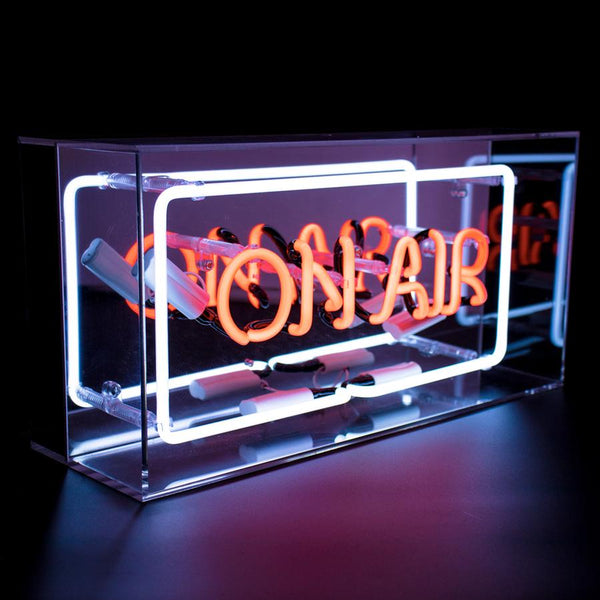 on air neon light box