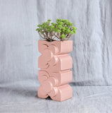 orla kiely pink vase side view