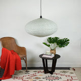 zig zag oval pendant shade in cotton