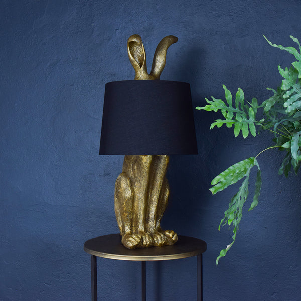 gold rabbit table lamp