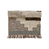 wool and cotton mix rug in earth tones